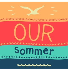 Symbol of summer vacation vector