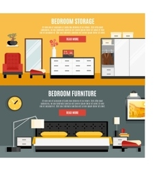 Bedroom banners set vector