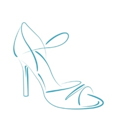Sketched woman s shoe vector