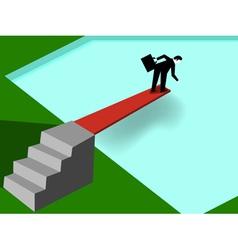 businessman taking risk vector image