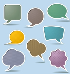 Collection speech bubbles vector