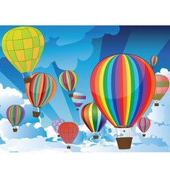 Air balloons in the sky3 vector