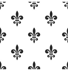 Golden fleur-de-lis seamless pattern white 5 vector