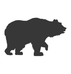 Bear silhouette icon vector