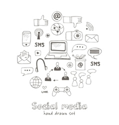 Set of social media sign and symbol vector