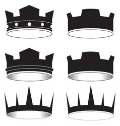 Black tiara vector