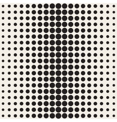Seamless black and white circle gradient vector