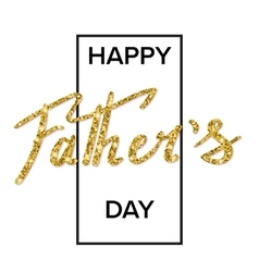 Happy fathers day handwritten lettering vector