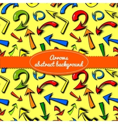 background of hand drawn colorful comics arrows vector image