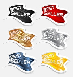 best seller label sticker vector vector image