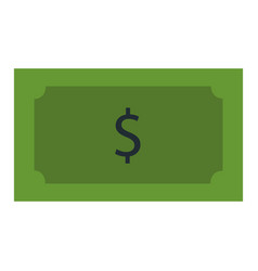 Bill dollar isolated icon vector