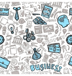 Business Seamless Pattern vector image vector image