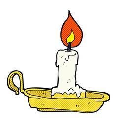 Comic cartoon old candlestick vector