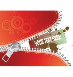 detailed zipper vector image vector image