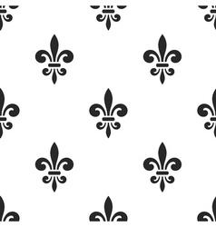Golden fleur-de-lis seamless pattern white 5 vector image