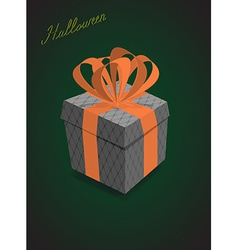 Halloween gifts black background vector image vector image