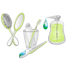 Hygiene items vector