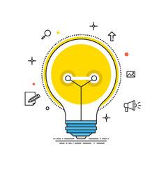 idea lines design bulb flat vector image vector image