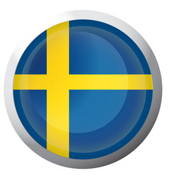 Isolated flag of sweden vector