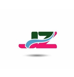 Letter j and z logo vector image vector image