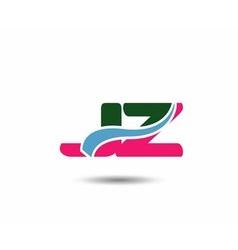 Letter j and z logo vector