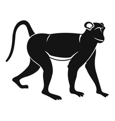 Monkey icon simple style vector