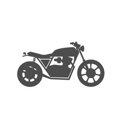 motorcycle icon or sign vector image vector image