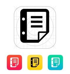 Notepad flip icon vector
