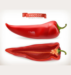 pepper vegetable 3d icon vector image vector image