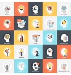 Personal skills icons vector