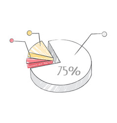 pie chart representing data vector image