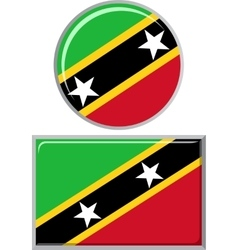 Saint kitts and nevis round square icon flag vector