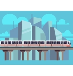 Sky Train Subway Concept vector image vector image