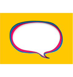 Speech bubble in paper cut style vector
