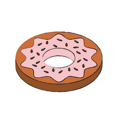 Sweet dessert donut vector