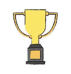 Trophy cup design vector