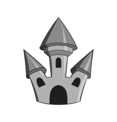 Toy castle icon black monochrome style vector