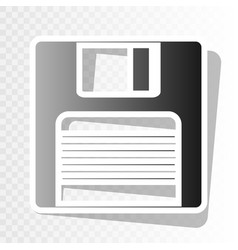 Floppy disk sign  new year blackish icon vector