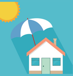 House insurance concept residential home real vector
