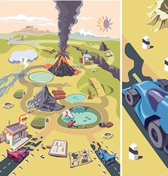 Dangerous race in a hazardous world vector