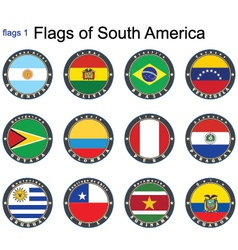 World flags south america vector