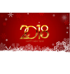 2018 new year and merry christmas background vector image vector image