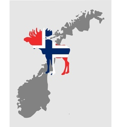 Norwegian moose vector