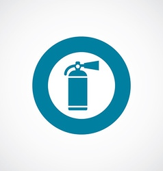 Fire extinguisher icon bold blue circle border vector