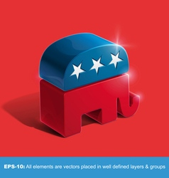 Republican party 3d sighn vector