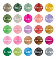 Set of 16 restart icons or reset icons vector