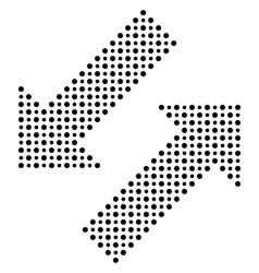 Fine dotted black arrows vector