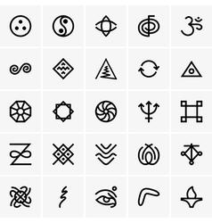 Karma icons vector image