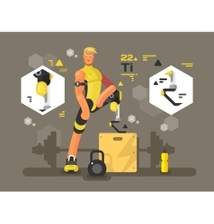 Sport prostheses design flat vector image