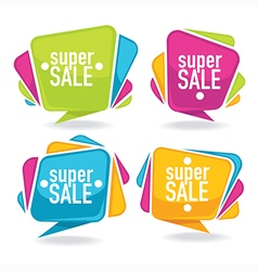 Bright sales labels vector